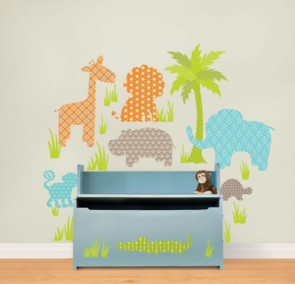 Jungle Friends Wall Art Sticker Kit